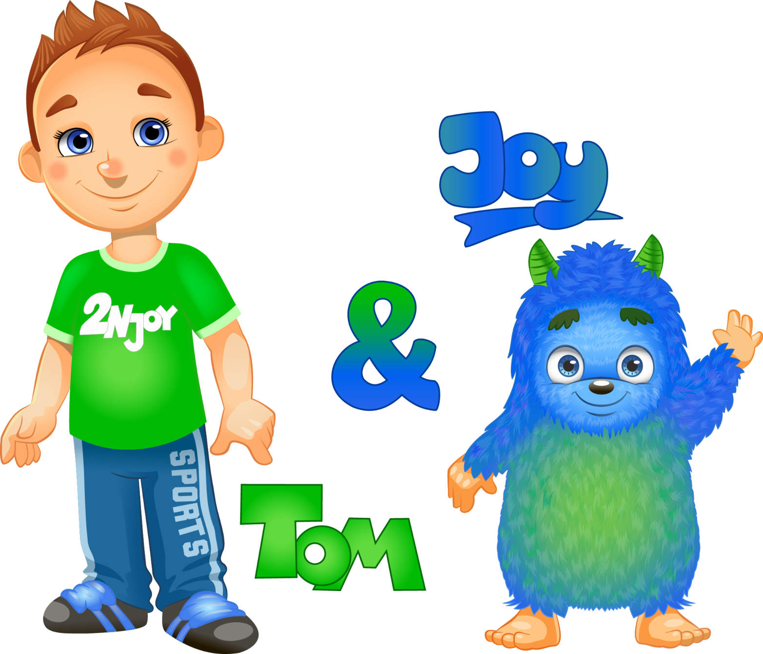Onze mascottes Tom & Joy